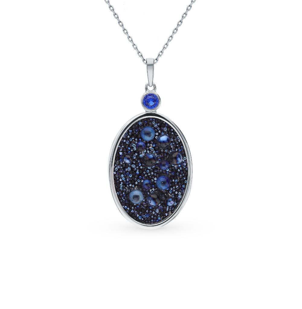 Серебряная подвеска с кристаллами и фианитами SOKOLOV 94032385 в Екатеринбурге