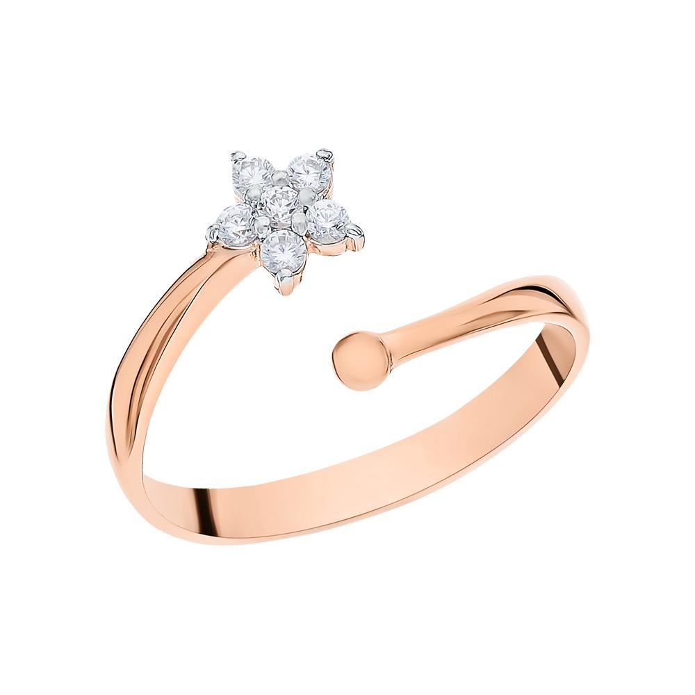 Золотое кольцо с фианитами в Санкт-Петербурге