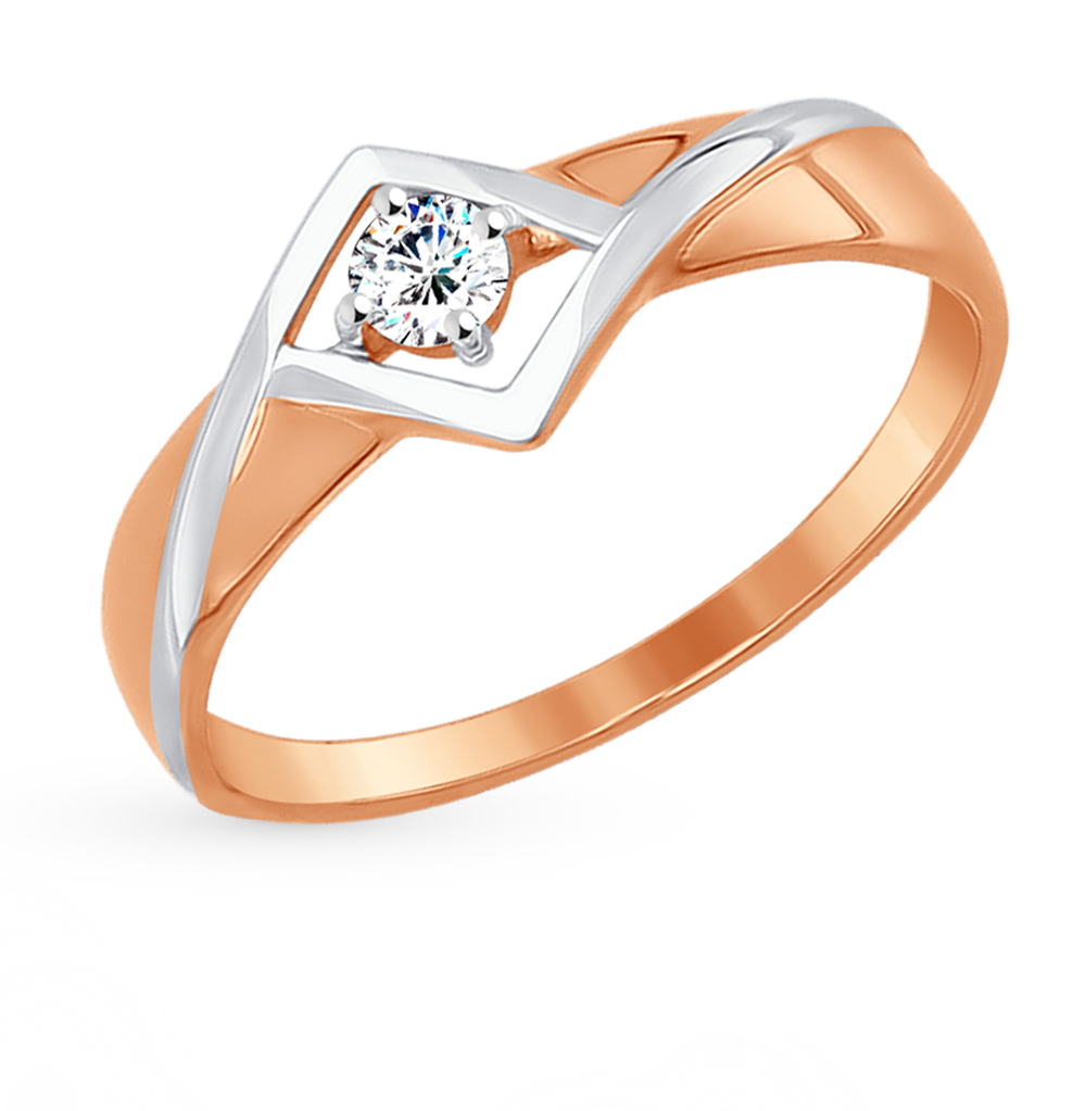 Золотое кольцо с фианитами SOKOLOV 017274* в Санкт-Петербурге