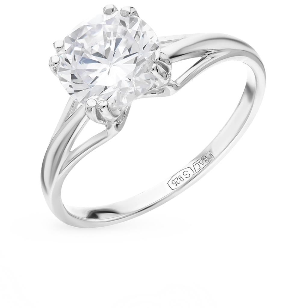 серебряное кольцо с фианитами SOKOLOV 94012116