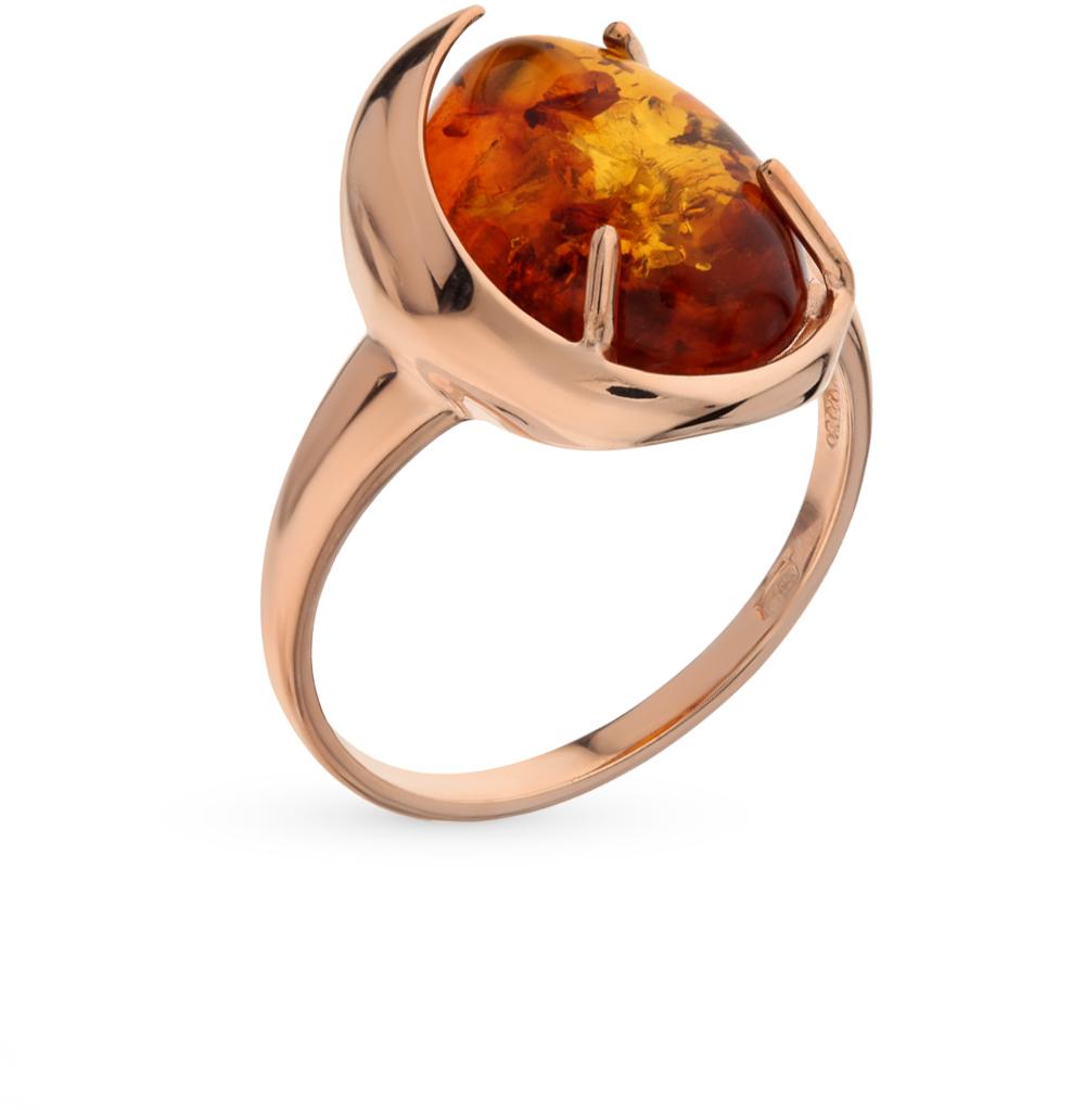 Фото «Серебряное кольцо с янтарем SOKOLOV 93010516»