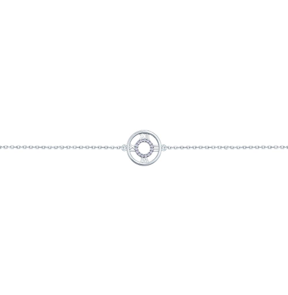 серебряный браслет с фианитами SOKOLOV 94050463