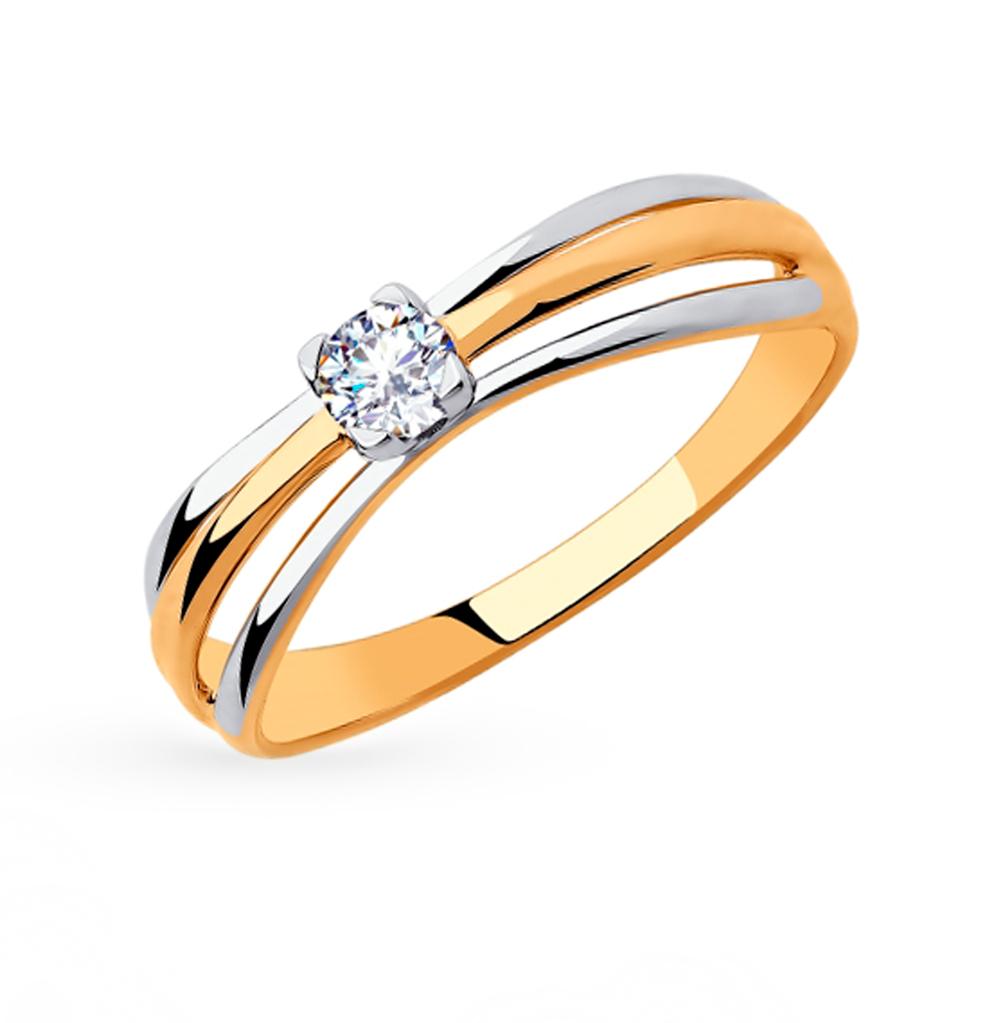 Фото «Золотое кольцо с фианитами SOKOLOV 018281»