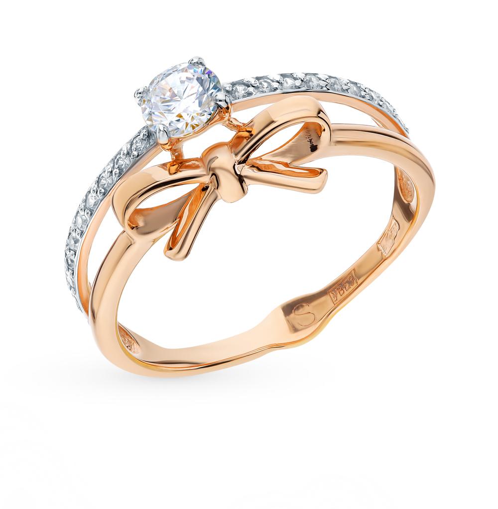 золотое кольцо с фианитами SOKOLOV 017744*