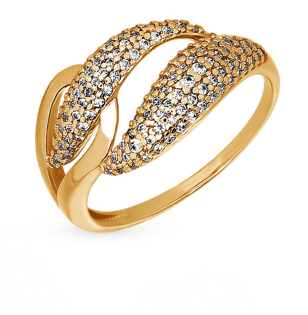 золотое кольцо с фианитами SOKOLOV 015917*