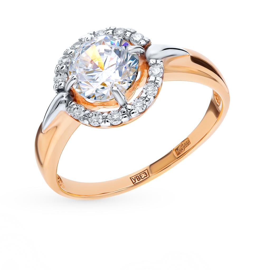 золотое кольцо с фианитами SOKOLOV 016960*