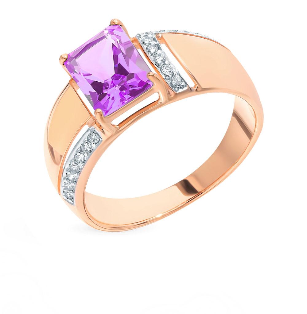 Золотое кольцо с аметистом и фианитами SOKOLOV 714858* в Санкт-Петербурге
