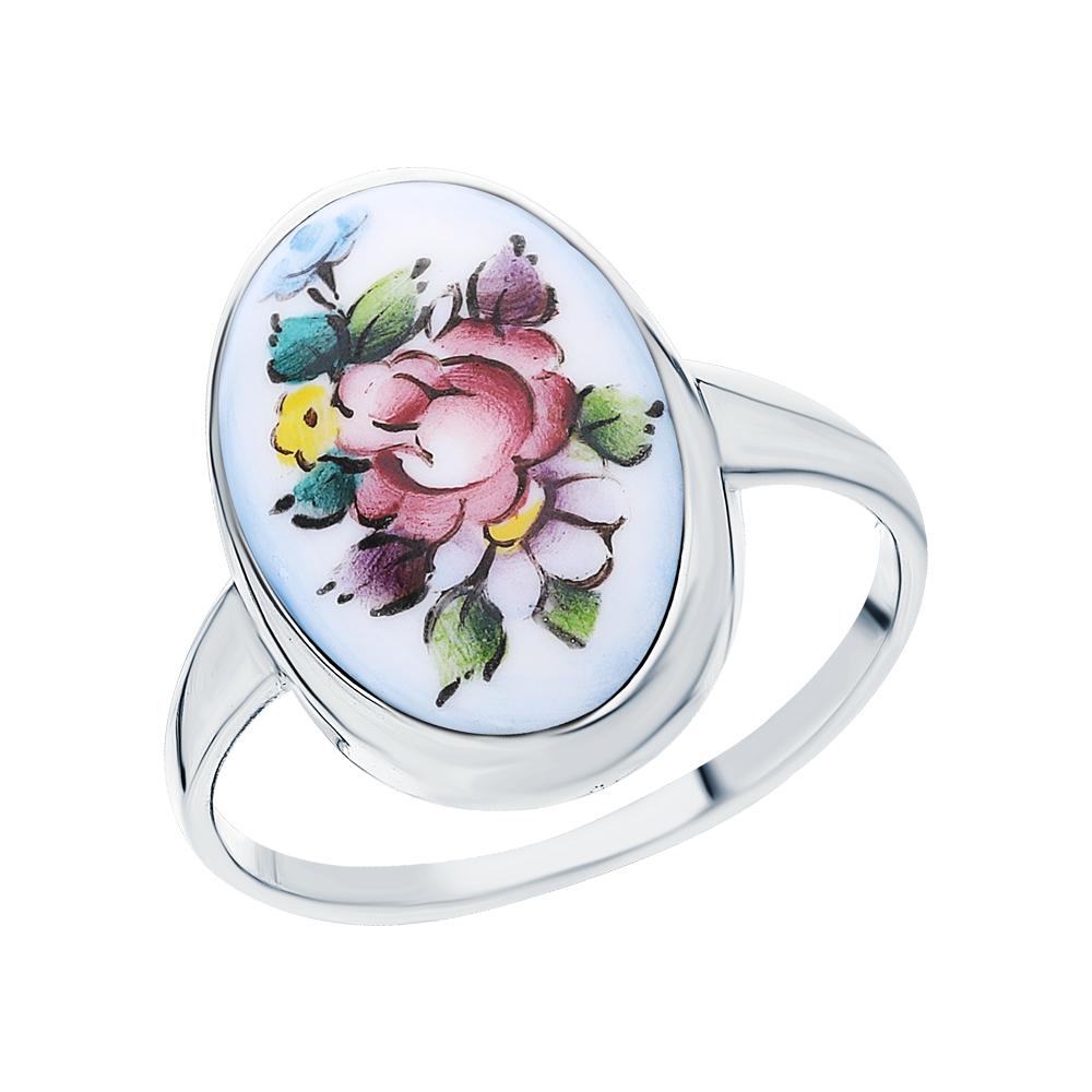 Серебряное кольцо с финифтью в Екатеринбурге