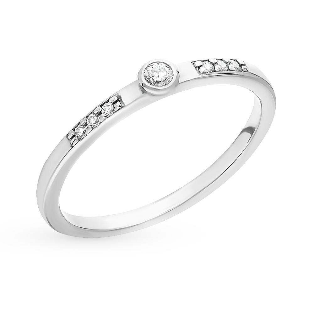 серебряное кольцо с фианитами SOKOLOV 94010698