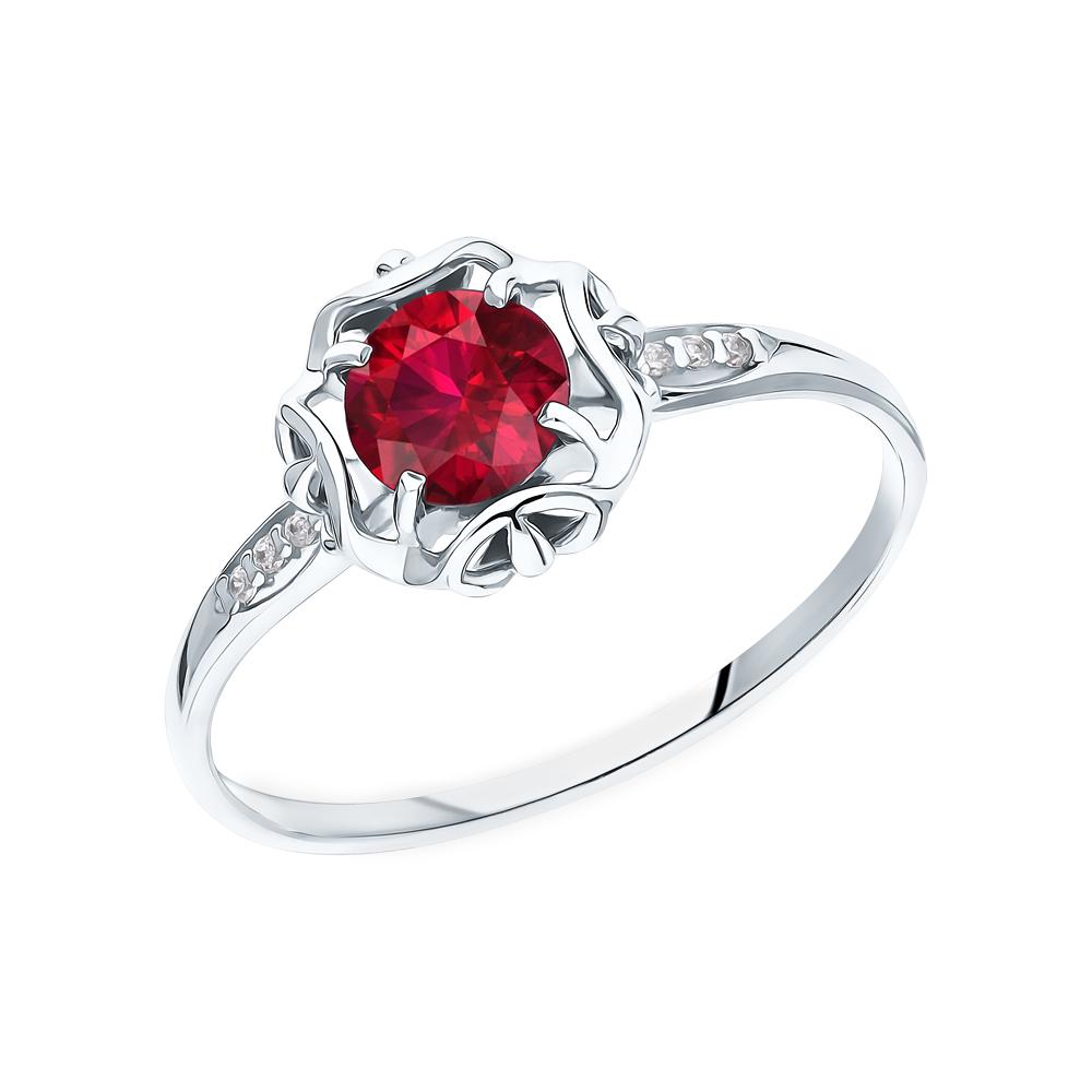 Серебряное кольцо с рубинами и фианитами в Екатеринбурге