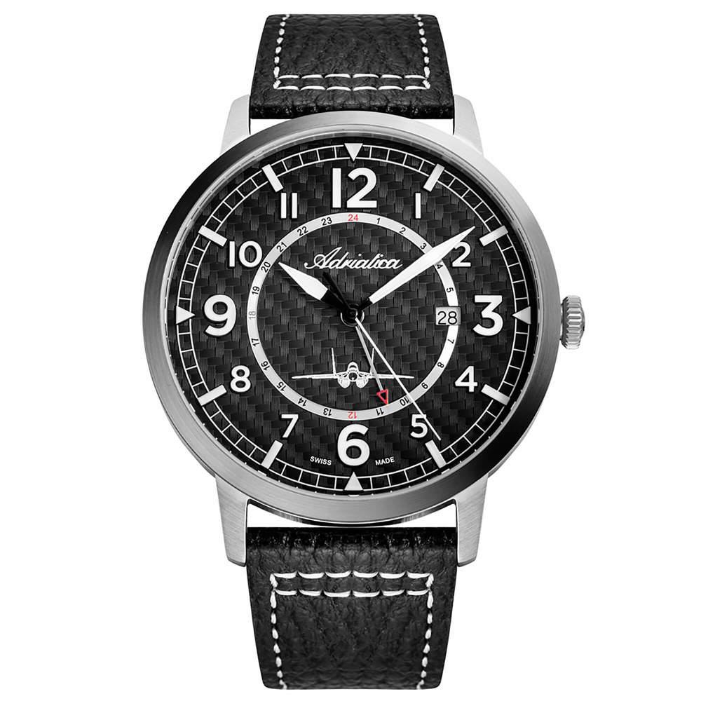 Фото «Мужские часы A8284.5224Q на кожаном ремешке с минеральным стеклом»