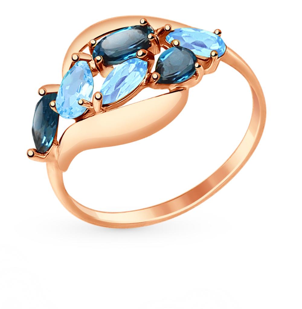 золотое кольцо с топазами SOKOLOV 714691*