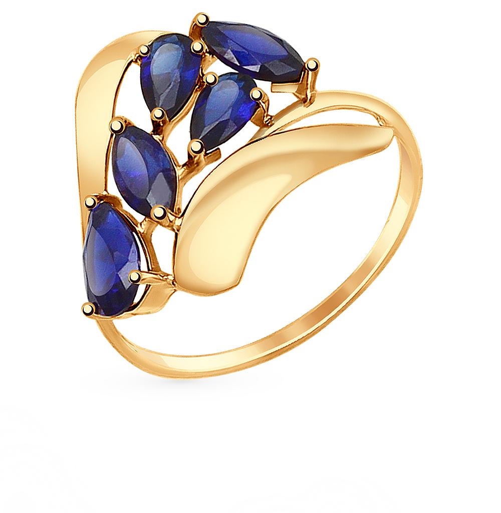 золотое кольцо с корундом SOKOLOV 714659