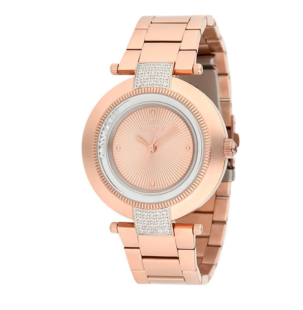 Фото «Женские часы ES6386FE.410 на стальном браслете с розовым PVD покрытием с минеральным стеклом»