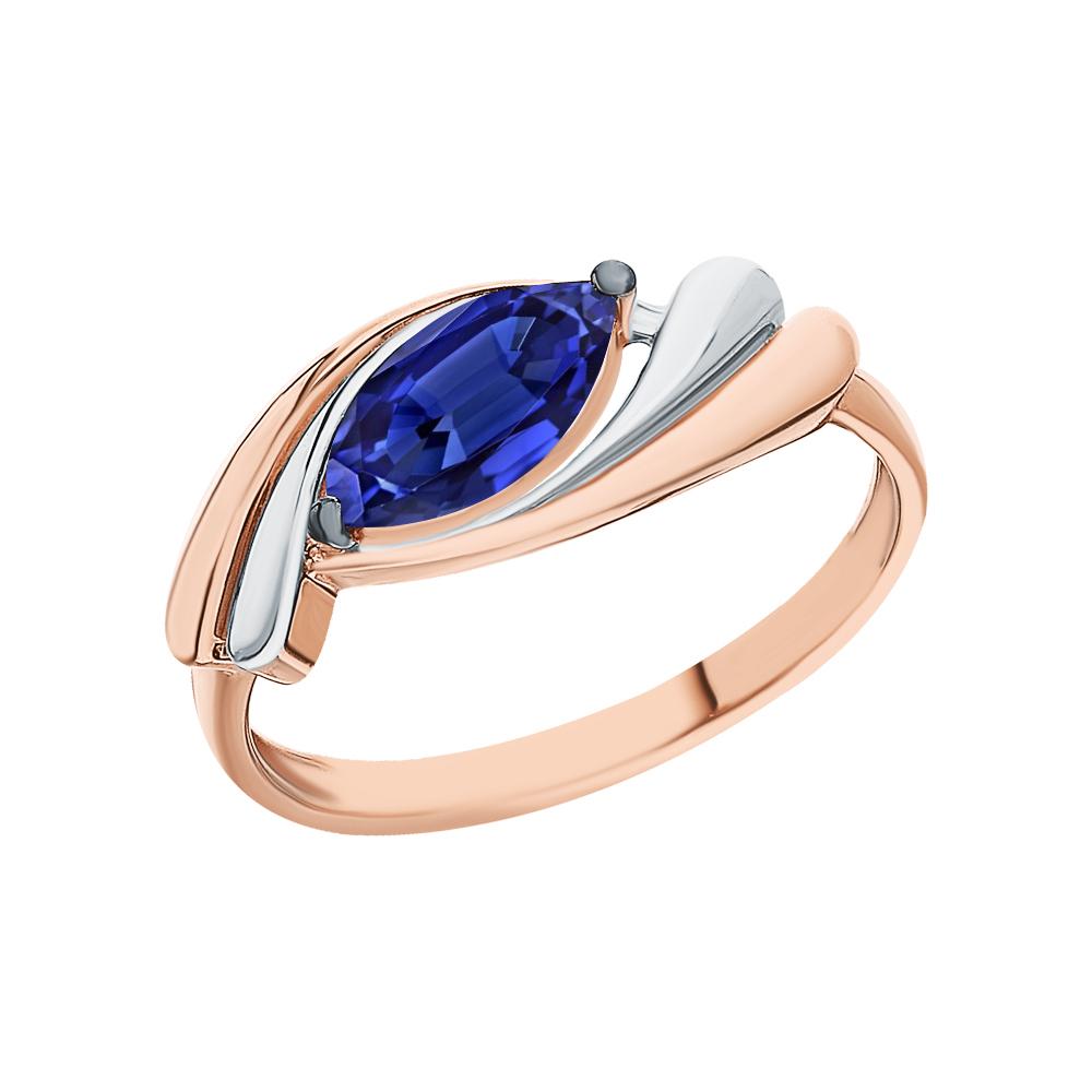 Золотое кольцо с сапфирами синтетическими в Санкт-Петербурге