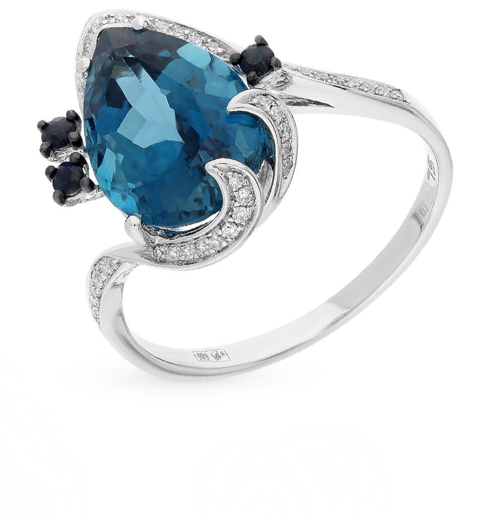 Фото «золото кольцо с топазами, сапфирами и бриллиантами»