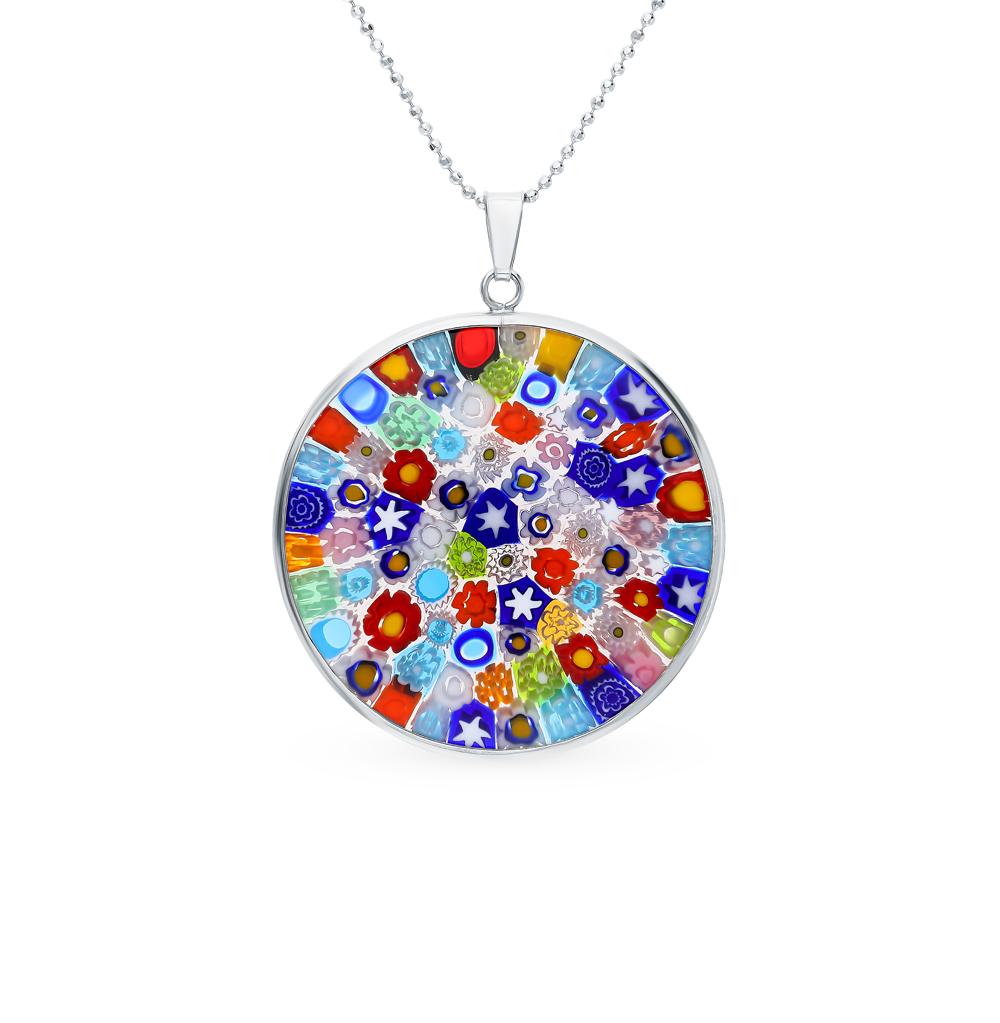 Фото «Серебряное шейное украшение с муранским стеклом»