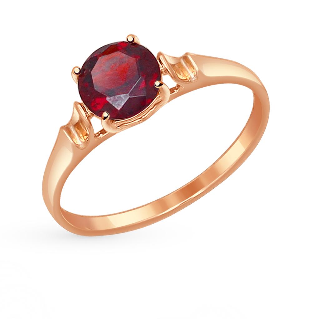 Золотое кольцо с гранатом SOKOLOV 714489* в Екатеринбурге