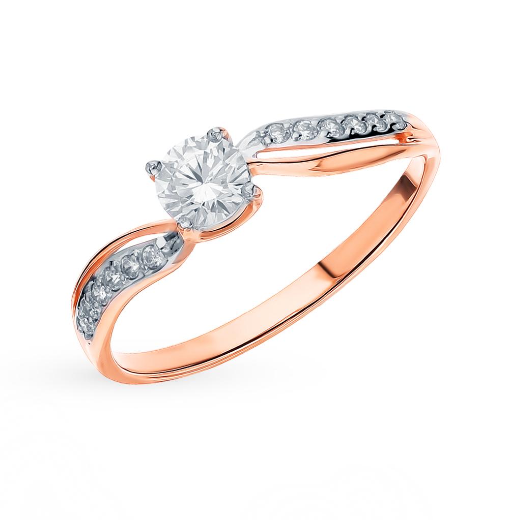 Фото «Золотое кольцо с фианитами SOKOLOV 018457*»