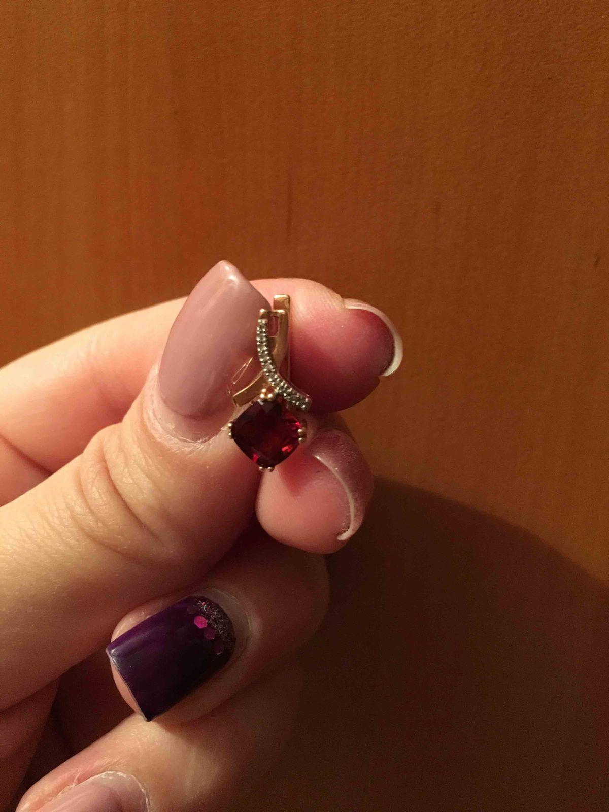 Серьги с гранитом и бриллиантами