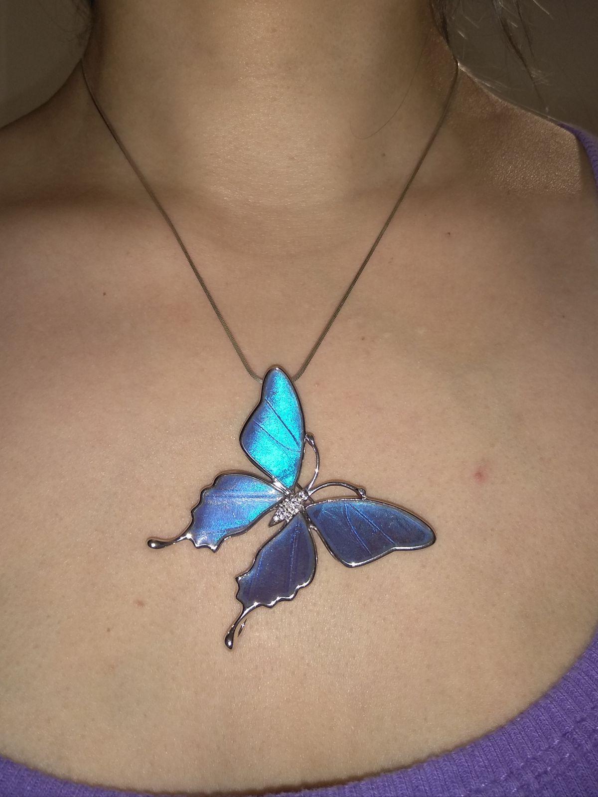 Брошь - подвеска бабочка