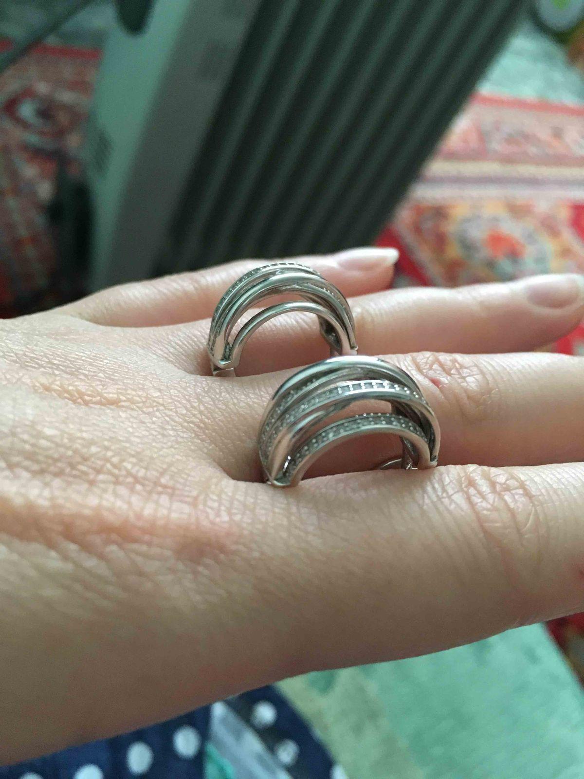 Серебряные серьги !
