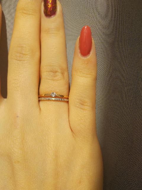 Золотое кольцо с 22 бриллиантами
