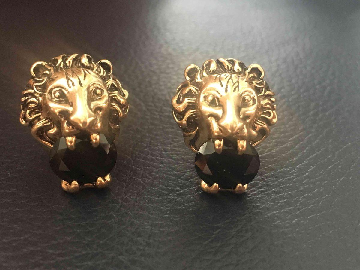 Серьги с львами