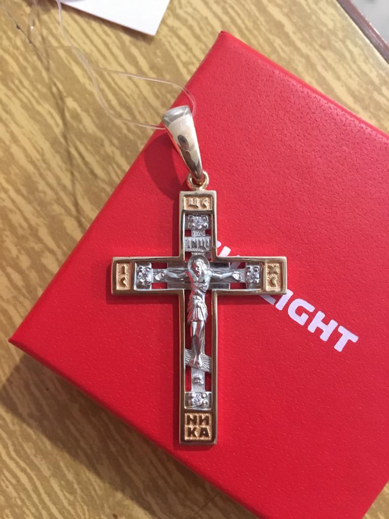Прекрасный крестик,выглядит солидно,то,что надо! Покупкой доволен!!!!!!!!!!