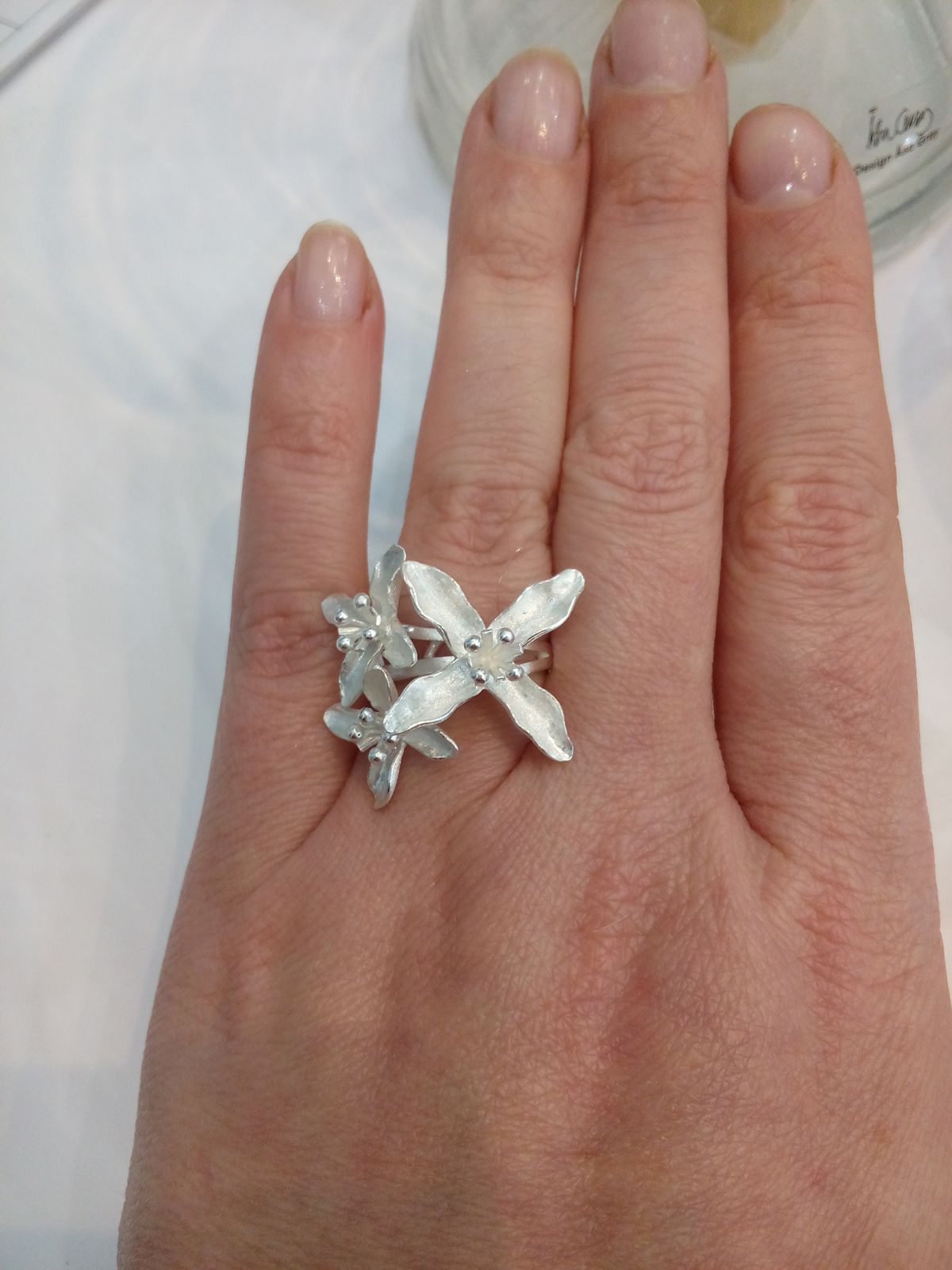 Кольцо цветок сирени