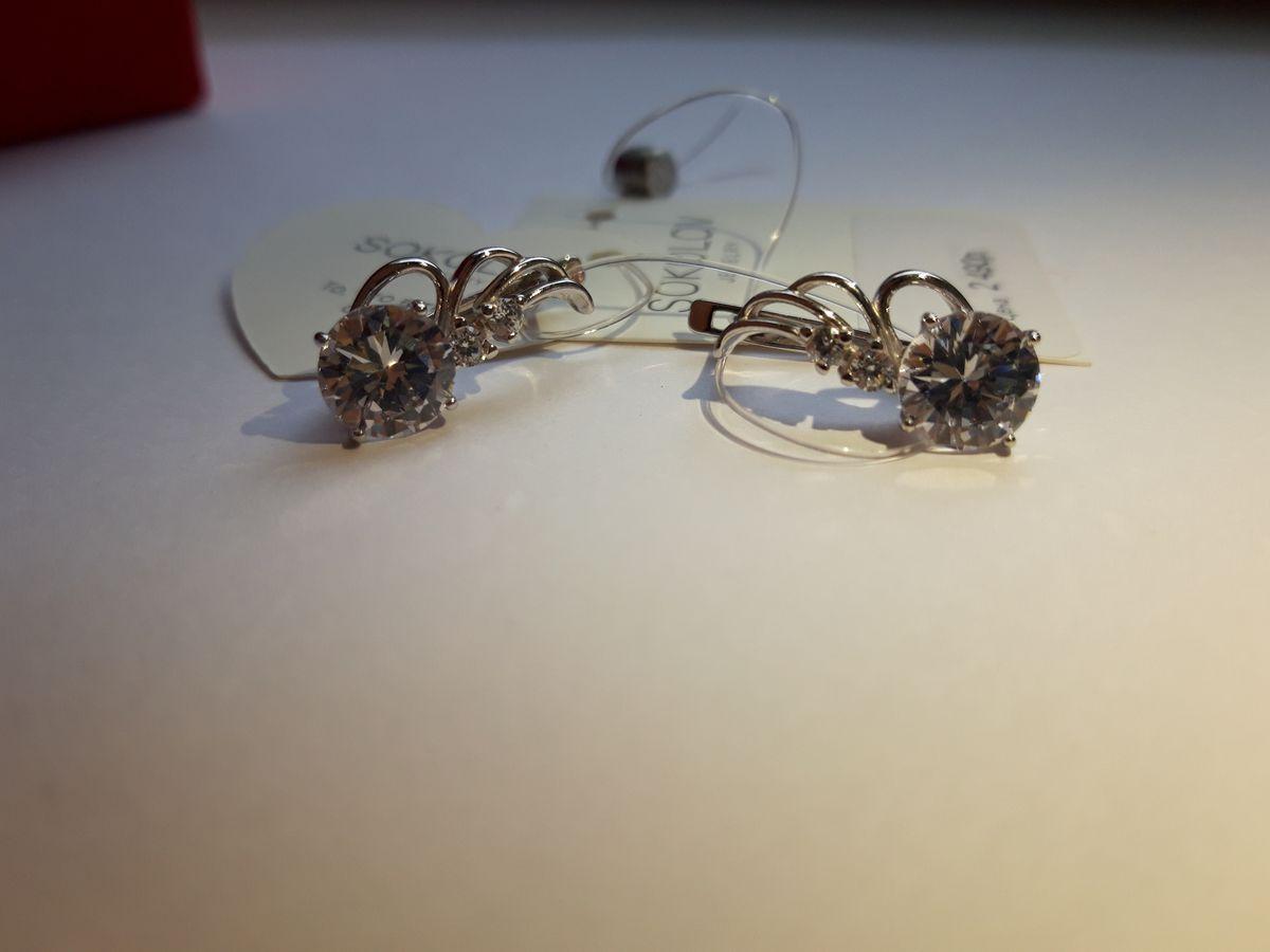 Красивые, серебряные серьги в форме крыльев