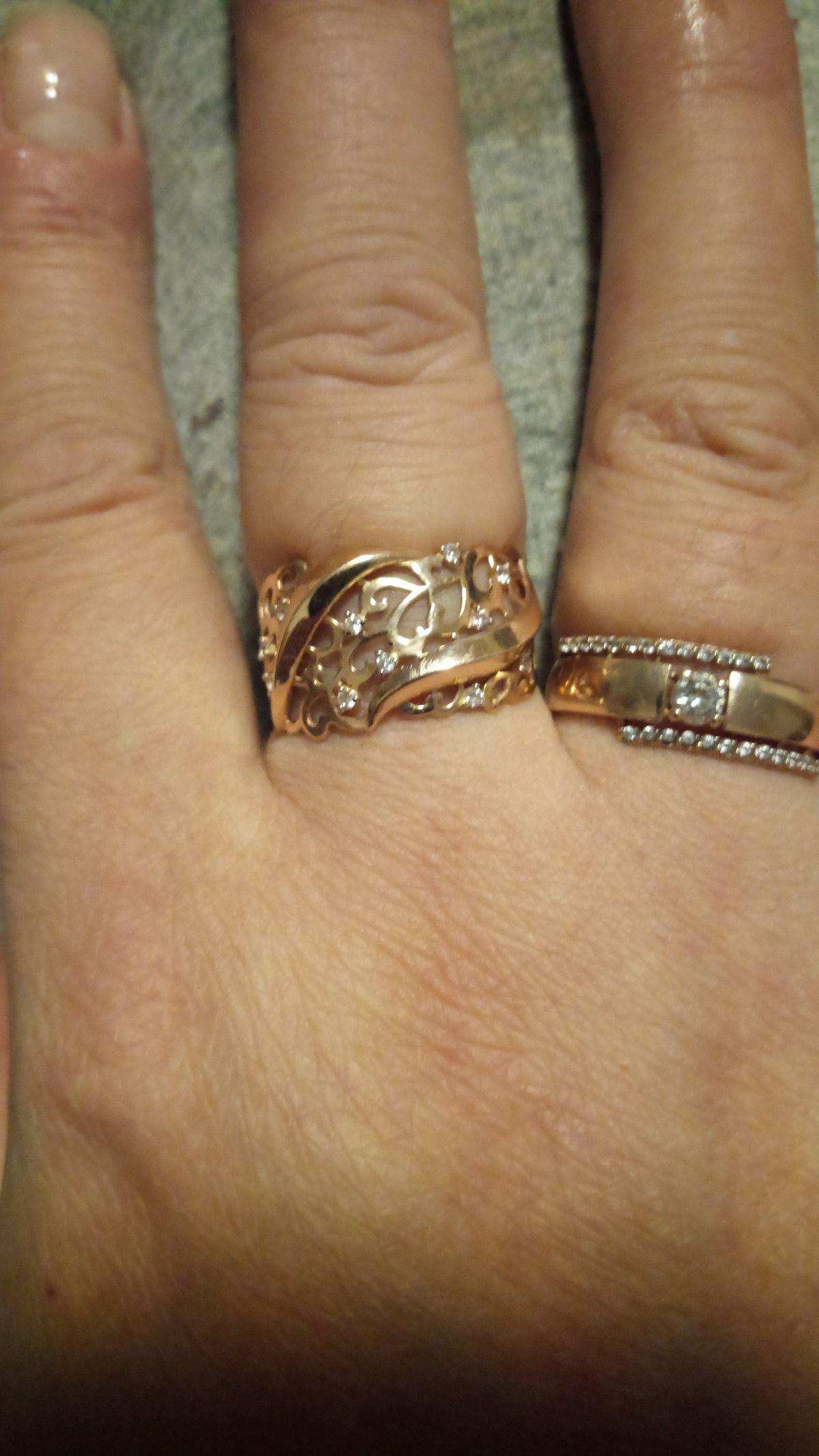Супер кольцо на день матери.
