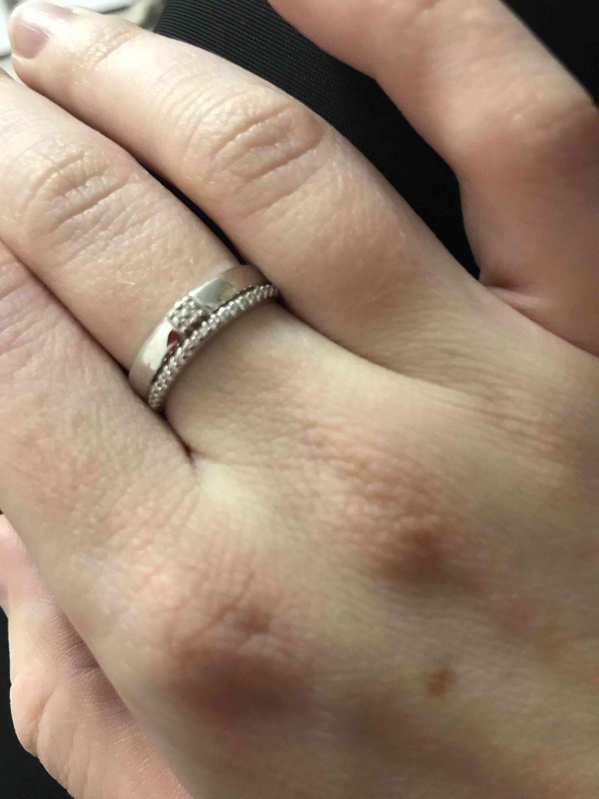 Серебряное колтцо с фианитами