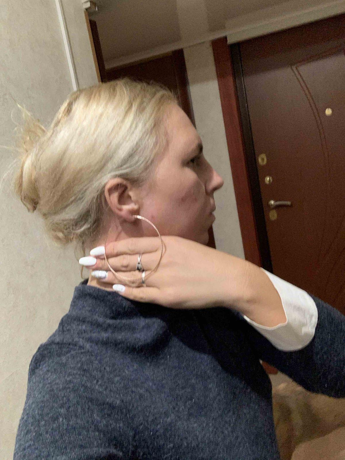 Серьги кольца большие, красивые, тонкие