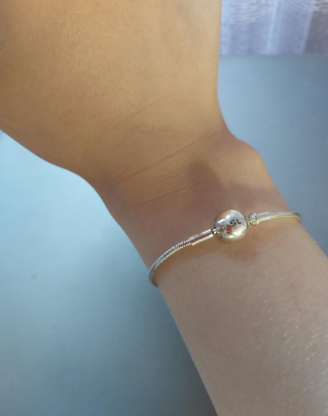 Серпбряный браслет