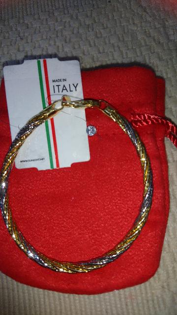 Серебрянный браслет  Италия. Вес 9.01г.