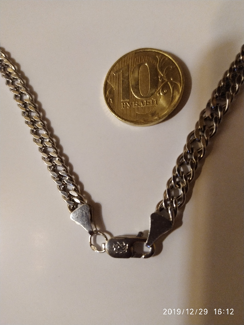 Отличная, серебряная цепочка, крепкая с интересным плетением 👍👍👍
