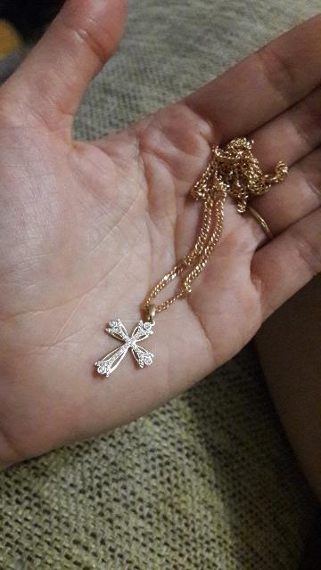 Крестик и цепочка