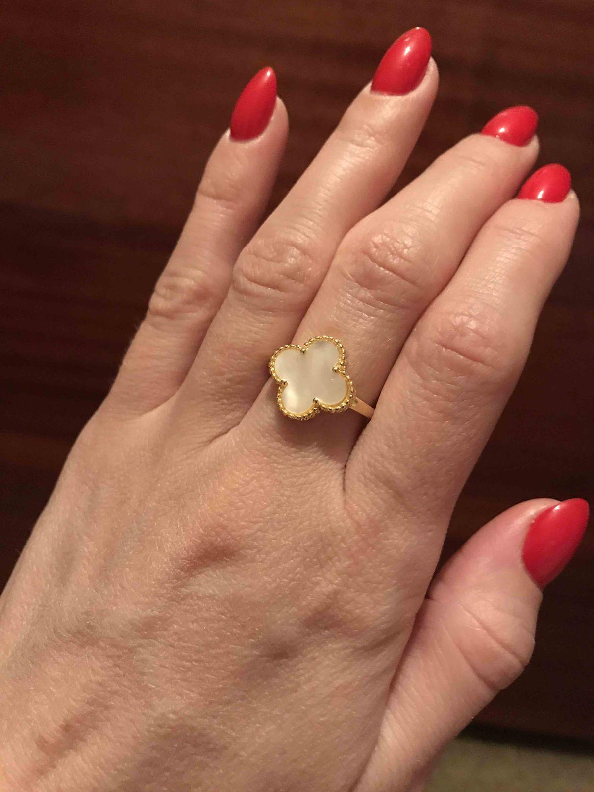 Серебряное кольцо под «Van Cleef»