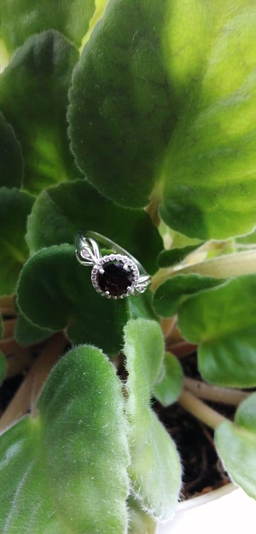 Кольцо с гранитом