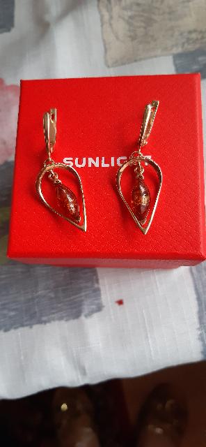 Серебренные серьги с январём и фианитом