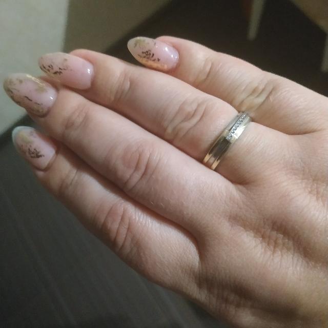 Кольцо белое золото
