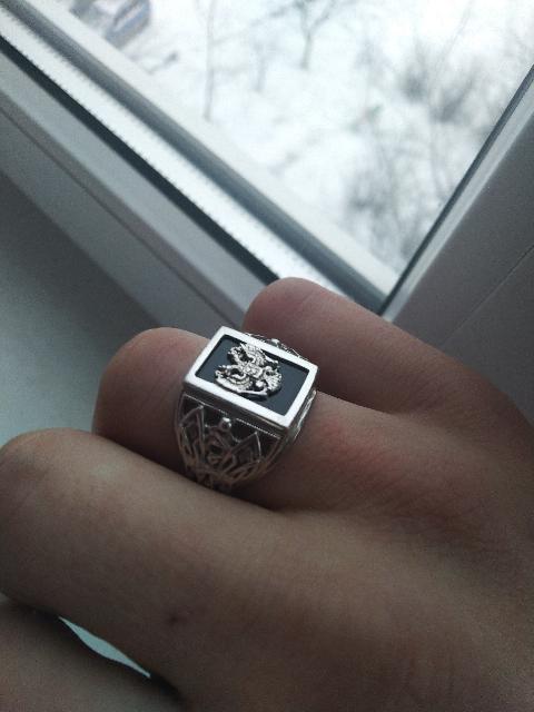 Перстень с гербом российской федерации