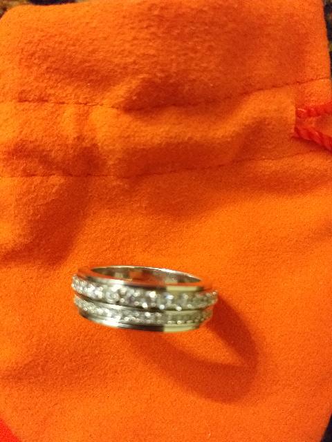 Кольцо с Фианитами в два ряда