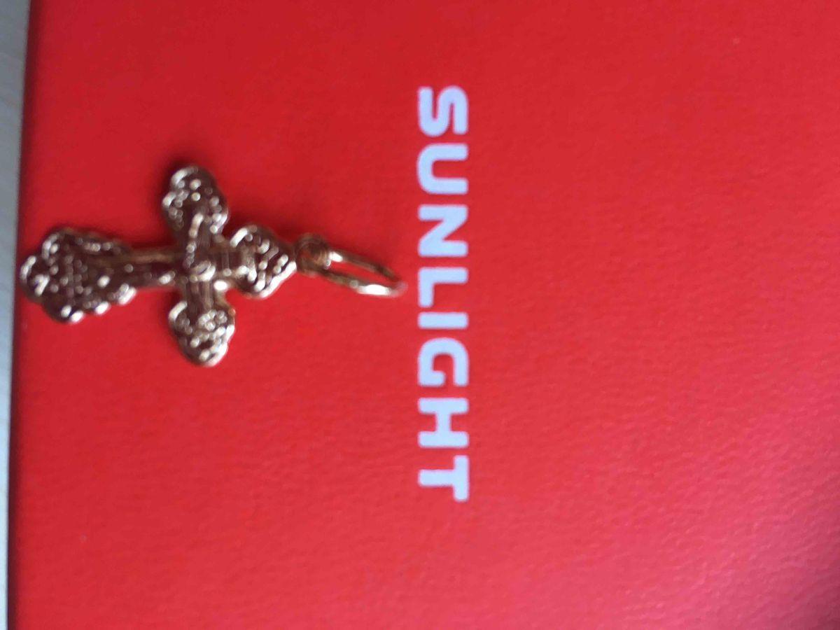 Подвеска крест золото 585 пробы