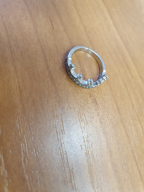 Серебряное кольцо с фанатами