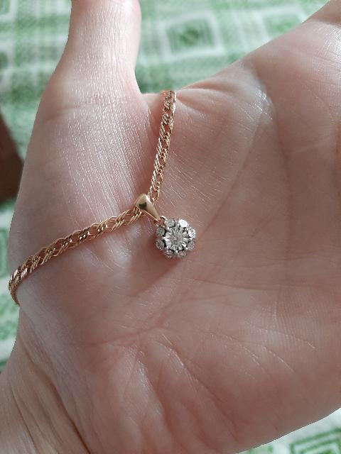 Очень красивая подвеска с бриллиантами,я в восторге
