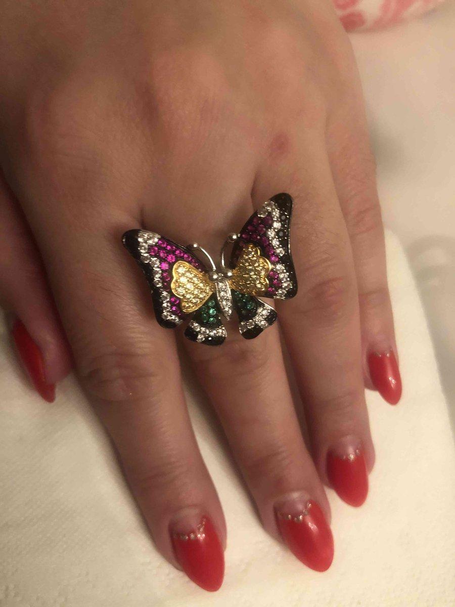 Любимое кольцо бабочка.