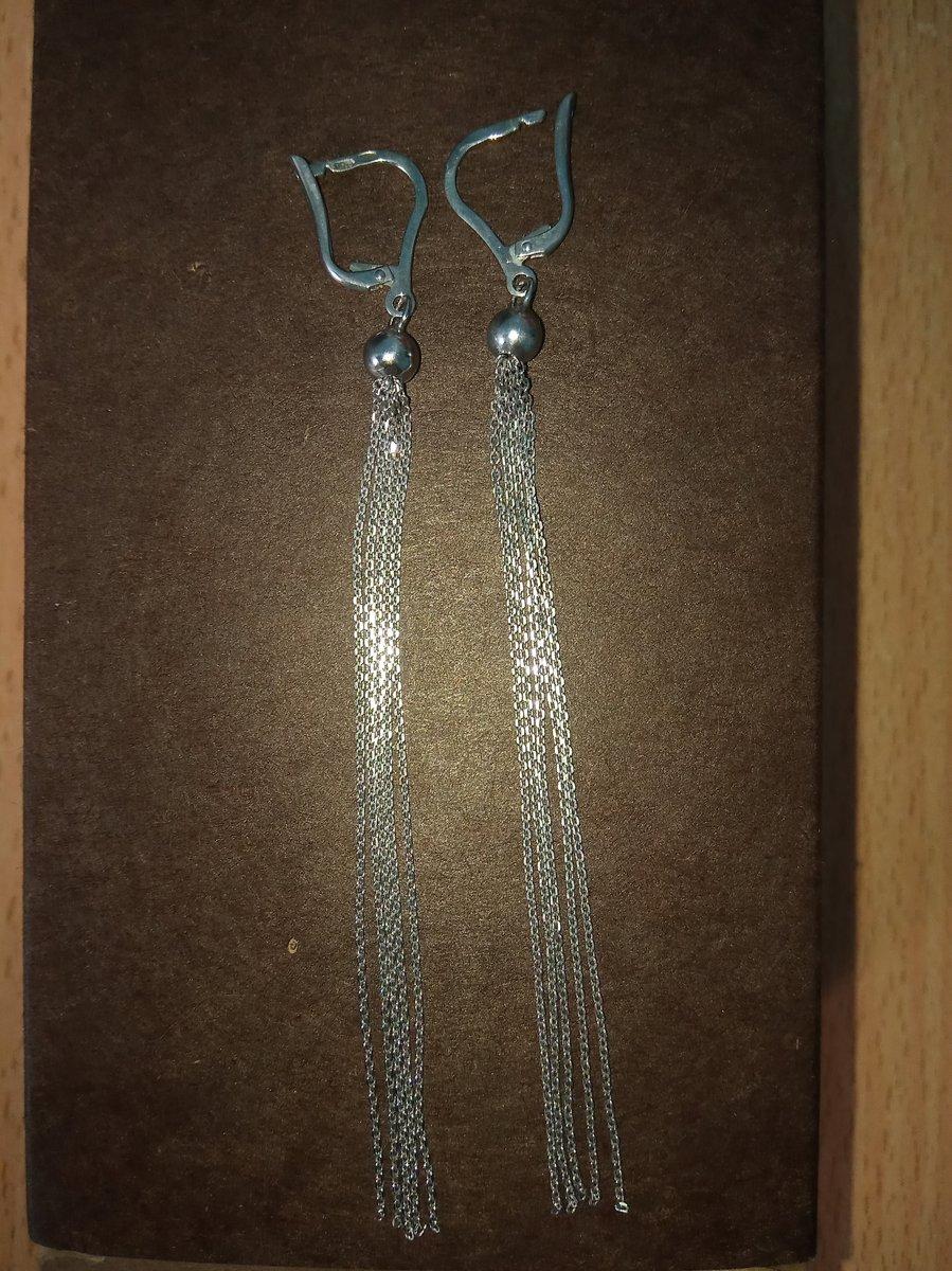 Серебряные серьги (цепочки)