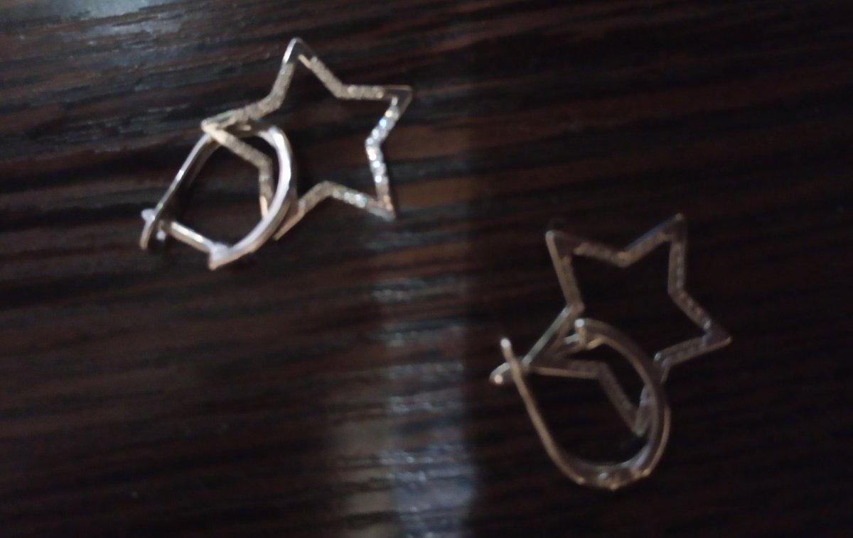 Серьги звёздочки